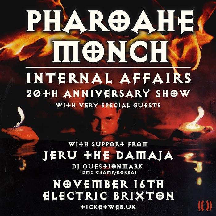 Pharoahe Monch at Electric Brixton on Saturday 16th November 2019 Flyer