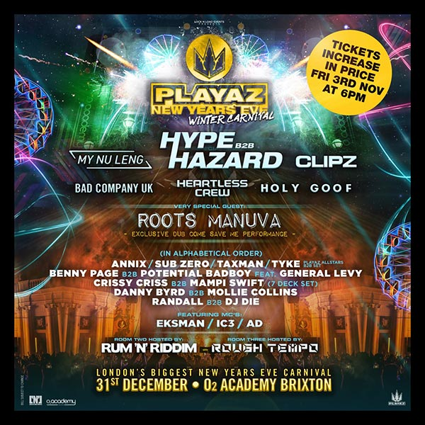 playaz-new-years-eve-brixton-academy-2017.jpg at Finsbury Park on Sunday 31st December 2017 Flyer