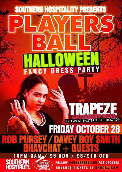 Players Ball  at Hoxton Bar & Kitchen on Friday 28th October 2016 Flyer