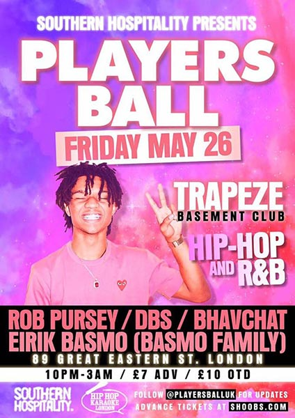 Players Ball at Trapeze on Fri 26th May 2017 Flyer