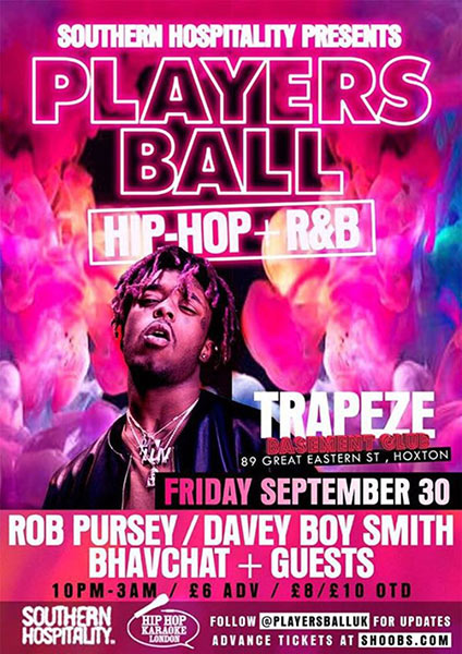 Players Ball  at The Forum on Friday 30th September 2016 Flyer