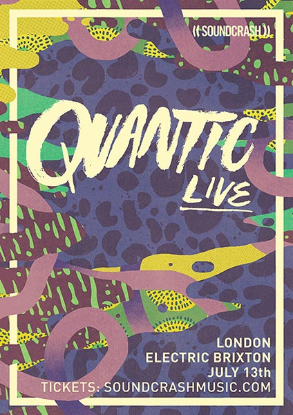 Quantic Live at Electric Ballroom on Fri 13th July 2018 Flyer