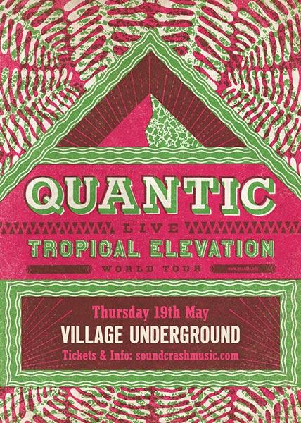 Quantic at KOKO on Thursday 19th May 2016 Flyer