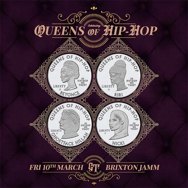Queens of Hip Hop at Brixton Academy on Friday 10th March 2017 Flyer
