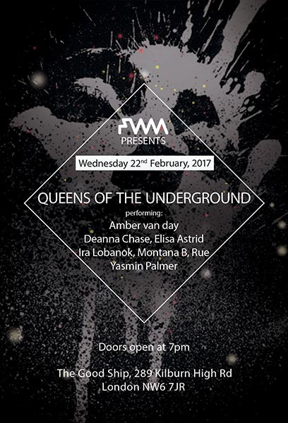 Queens of the Underground at Brixton Academy on Wednesday 22nd February 2017 Flyer