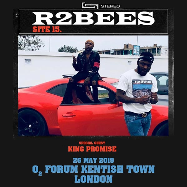 R2bees at The Forum on Sun 26th May 2019 Flyer