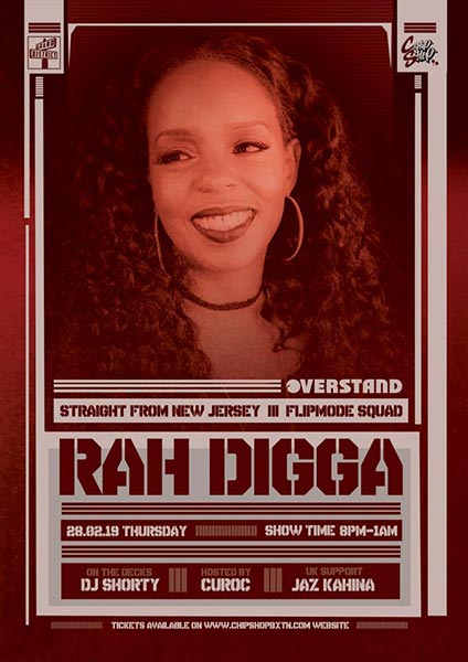 Rah Digga at Chip Shop BXTN on Thursday 28th February 2019 Flyer