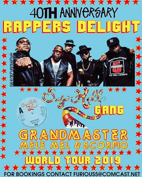 The Sugarhill Gang & The Furious 5  at New Cross Inn on Thu 30th May 2019 Flyer