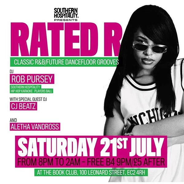 Rated R at Book Club on Sat 21st July 2018 Flyer