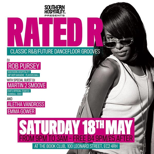 Rated R at Book Club on Sat 18th May 2019 Flyer