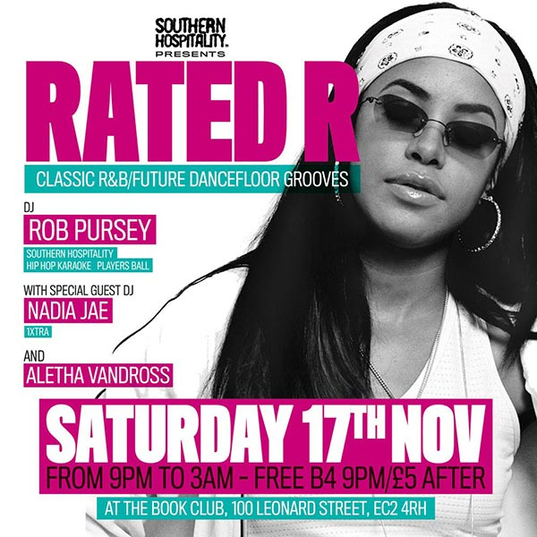 Rated R at Book Club on Sat 17th November 2018 Flyer
