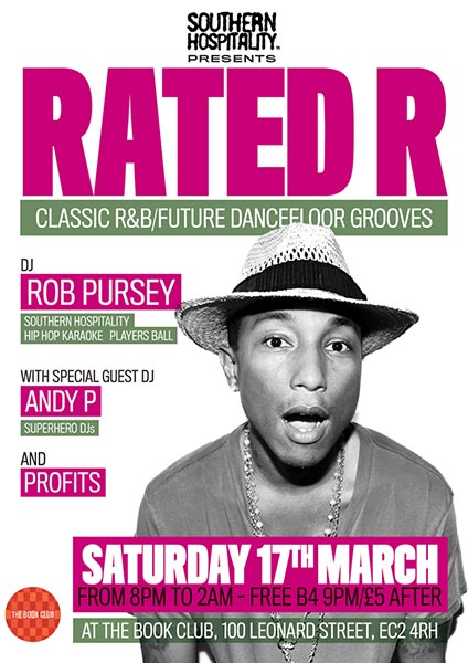 Rated R at Book Club on Sat 17th March 2018 Flyer