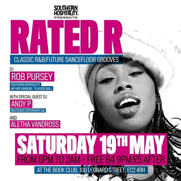 Rated R at Book Club on Sat 19th May 2018 Flyer
