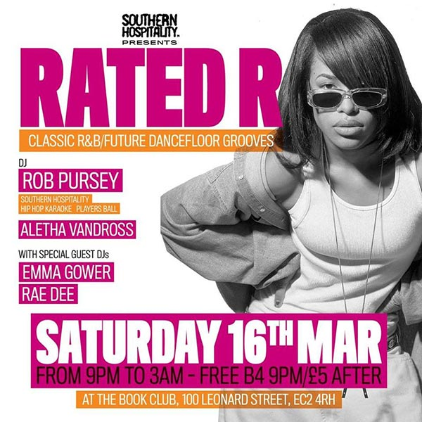 Rated R at Book Club on Sat 16th March 2019 Flyer
