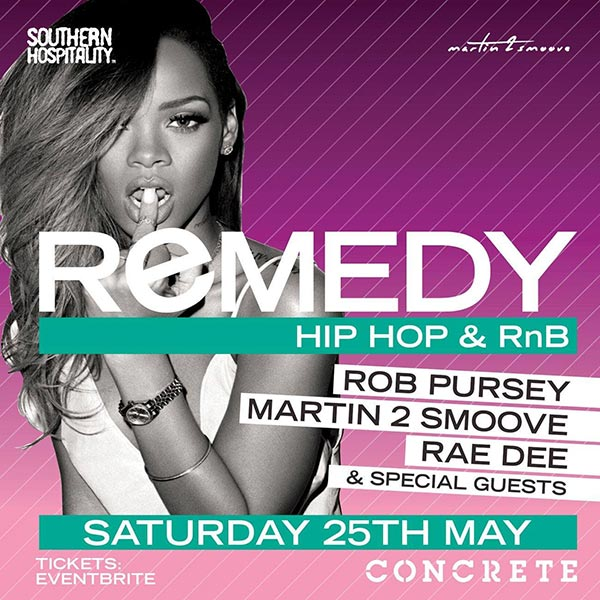 Remedy at Concrete on Sat 25th May 2019 Flyer
