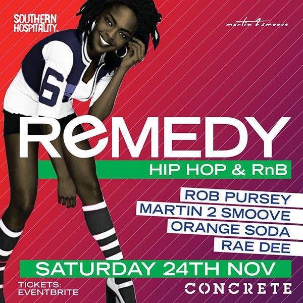 Remedy at Concrete on Sat 24th November 2018 Flyer