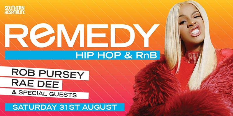 Remedy at Concrete on Sat 31st August 2019 Flyer