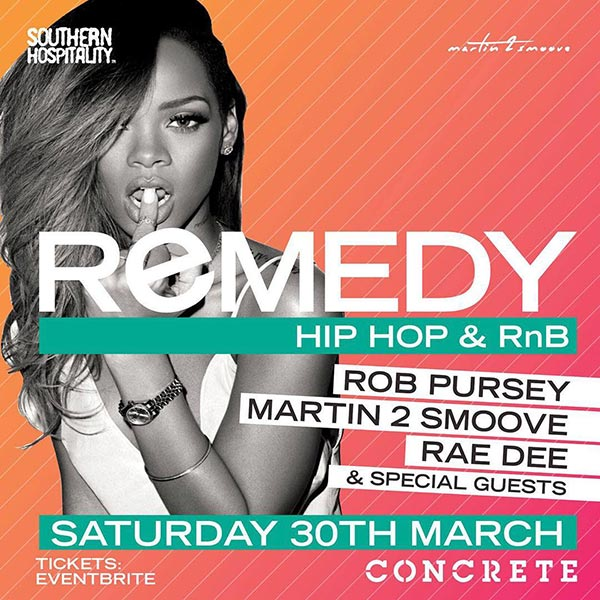 Remedy at Concrete on Sat 30th March 2019 Flyer