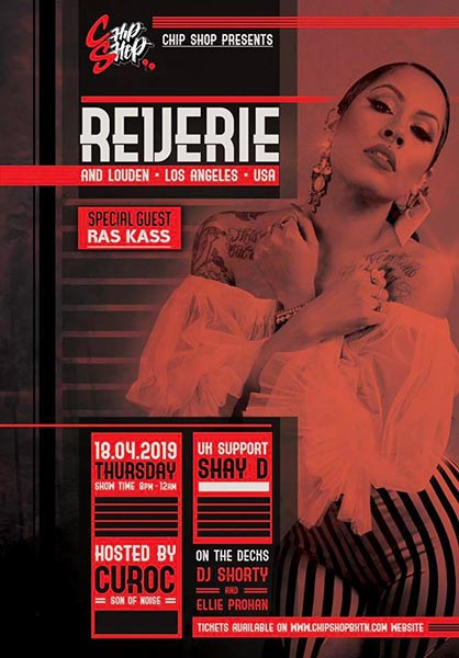 Reverie at Chip Shop BXTN on Thu 18th April 2019 Flyer