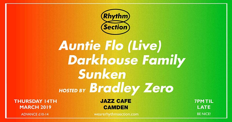 Rhythm Section presents at Jazz Cafe on Thu 14th March 2019 Flyer