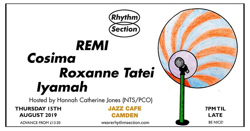 Rhythm Section presents at Jazz Cafe on Thu 15th August 2019 Flyer