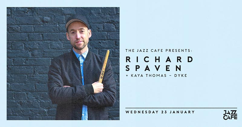 Richard Spaven at Jazz Cafe on Wed 23rd January 2019 Flyer