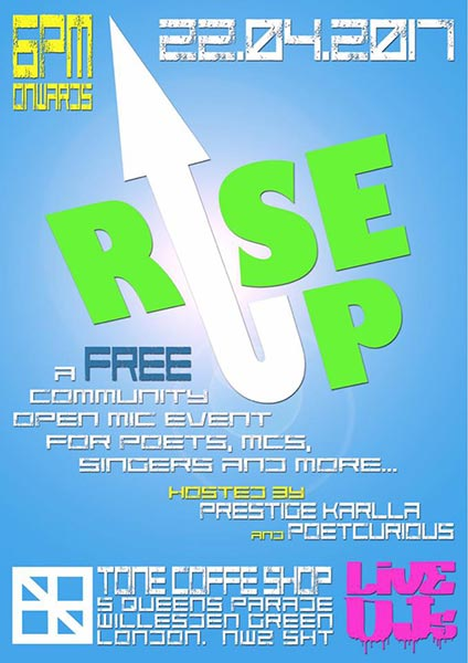 Rise up at TONE on Sat 22nd April 2017 Flyer