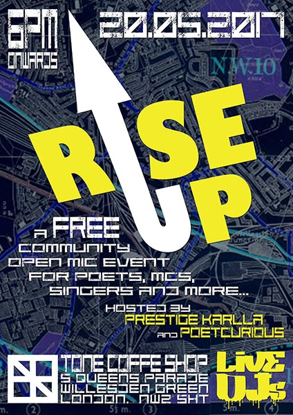 Rise Up at TONE on Sat 20th May 2017 Flyer