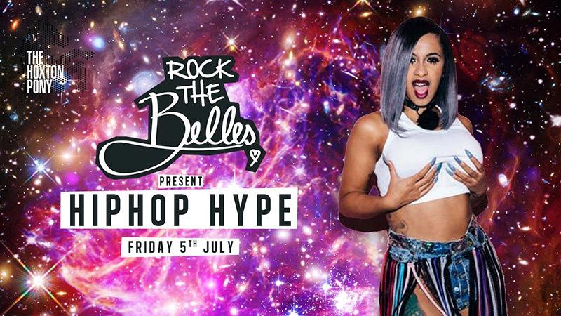 Rock The Belles x Hiphop Hype Hoxton at The Hoxton Pony on Fri 5th July 2019 Flyer