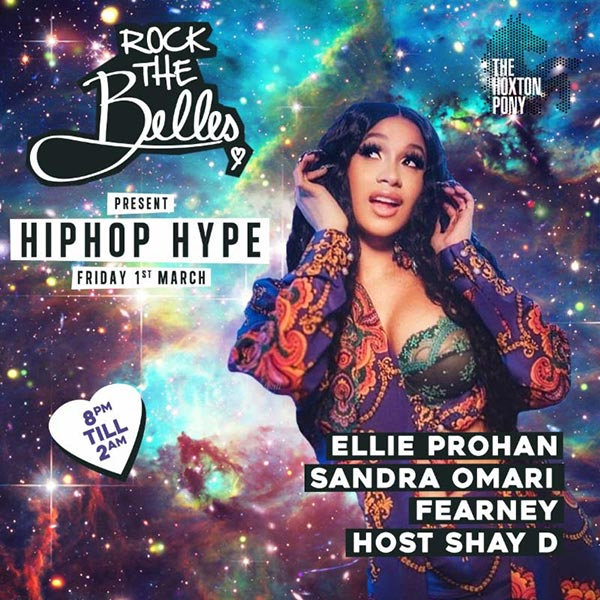 Rock The Belles x Hiphop Hype Hoxton at The Hoxton Pony on Fri 1st March 2019 Flyer