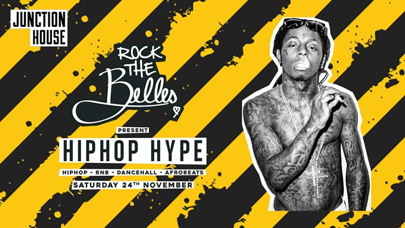 Rock The Belles x Hiphop Hype Dalston at Junction House on Sat 24th November 2018 Flyer