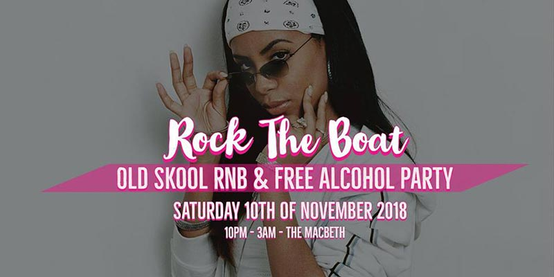 Rock the Boat at The Macbeth on Sat 10th November 2018 Flyer