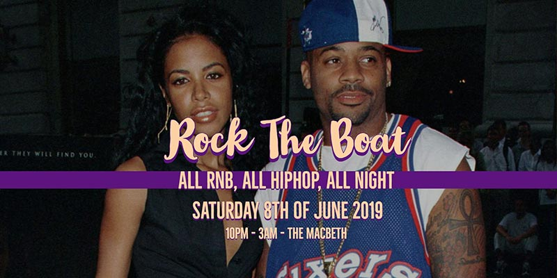 Rock the Boat at The Macbeth on Sat 8th June 2019 Flyer