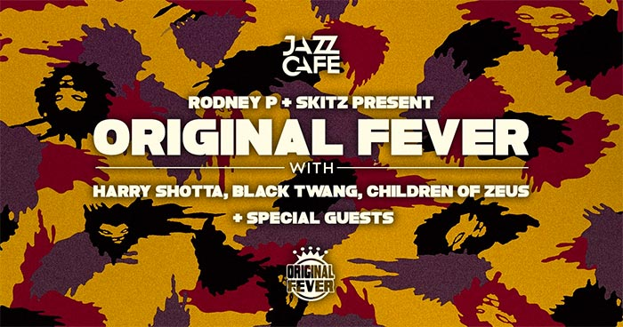 Original Fever at Jazz Cafe on Mon 19th February 2018 Flyer