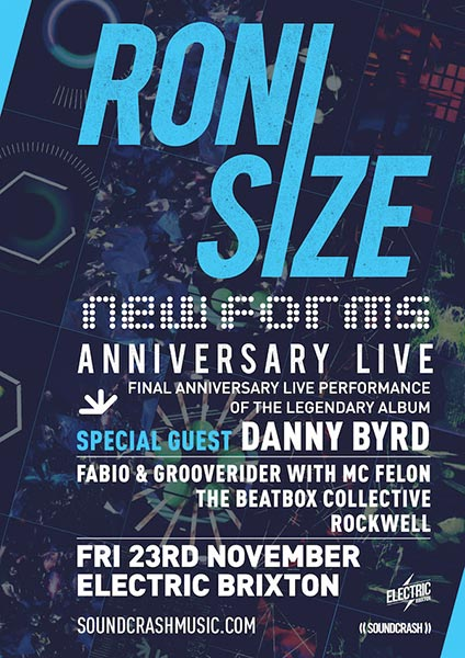 Roni Size at Electric Brixton on Friday 23rd November 2018 Flyer