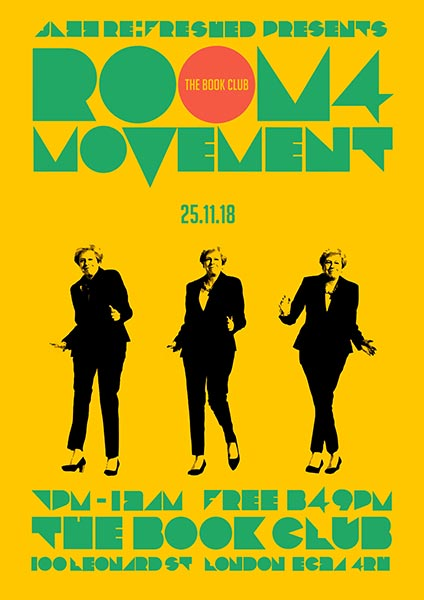 Room4Movement at Book Club on Sunday 25th November 2018 Flyer