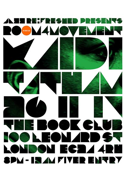 Room4Movement w/ Kaidi Tatham at Finsbury Park on Sunday 26th November 2017 Flyer