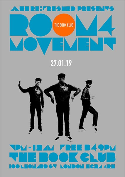 Room4Movement at Book Club on Sunday 27th January 2019 Flyer