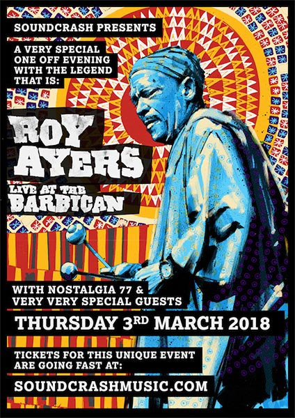 Roy Ayers at Barbican on Saturday 3rd March 2018 Flyer