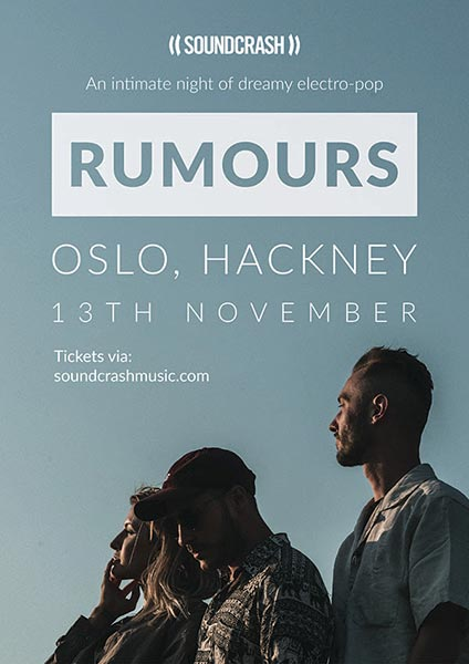 Rumours at Oslo Hackney on Tue 13th November 2018 Flyer