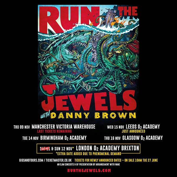 Run the Jewels at Finsbury Park on Sunday 12th November 2017 Flyer
