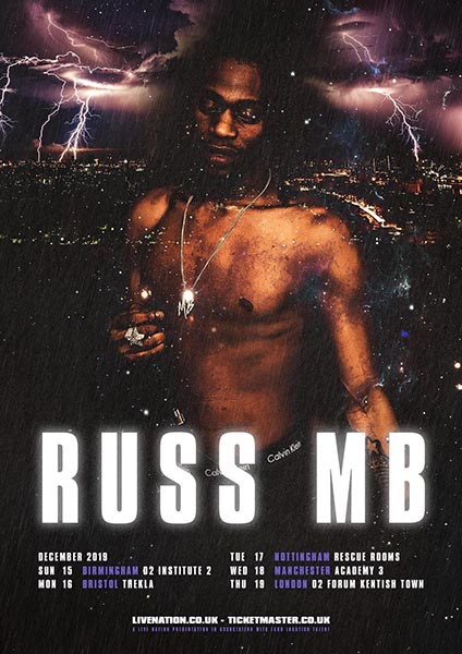 Russ MB at The Forum on Thu 19th December 2019 Flyer