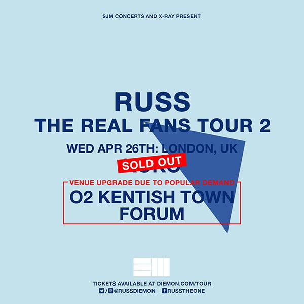Russ at The Forum on Wednesday 26th April 2017 Flyer