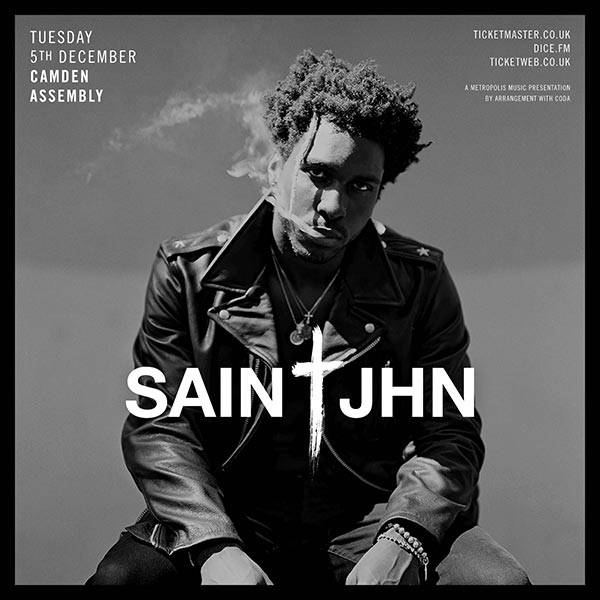 SAINt JHN at Finsbury Park on Tuesday 5th December 2017 Flyer
