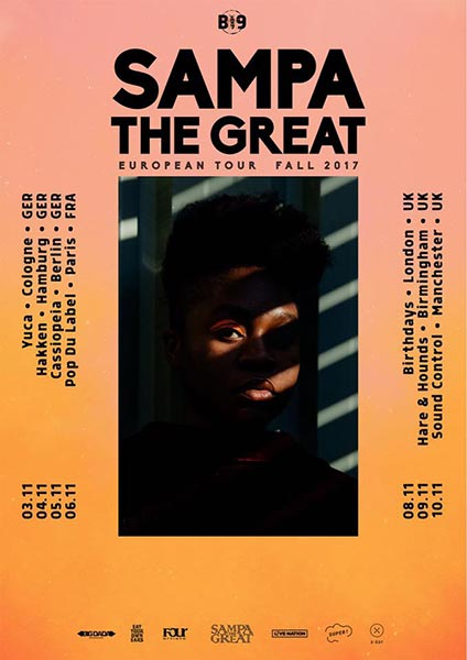 Sampa The Great at Finsbury Park on Wednesday 8th November 2017 Flyer