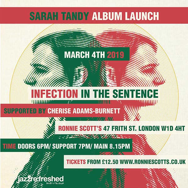 Sarah Tandy at Ronnie Scotts on Mon 4th March 2019 Flyer