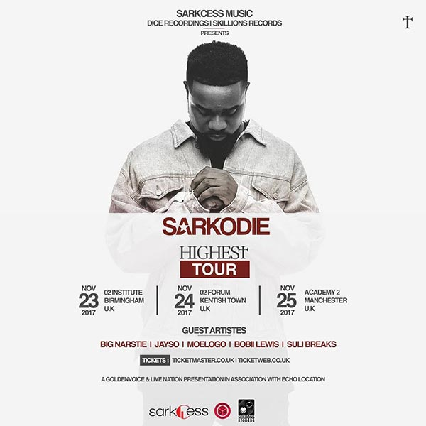 Sarkodie at The Forum on Fri 24th November 2017 Flyer