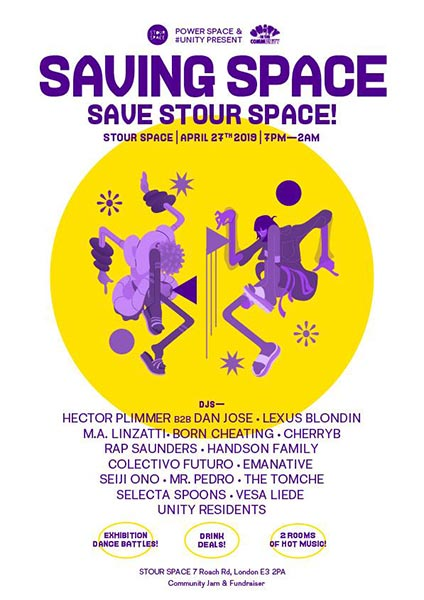 Saving Space at Stour Space on Sat 27th April 2019 Flyer