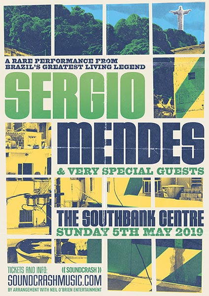 Sergio Mendes at Southbank Centre on Sun 5th May 2019 Flyer
