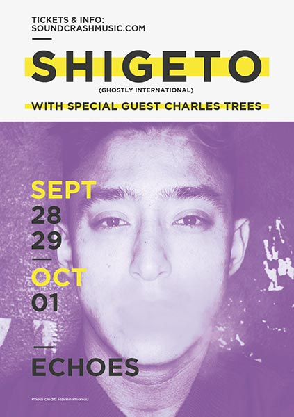 Shigeto at The Forum on Wednesday 28th September 2016 Flyer
